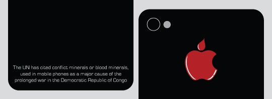 The UN has cited conflict minerals or blood minerals used in mobile phones as a major cause of the prolonged war in the Democratic Republic of Congo.